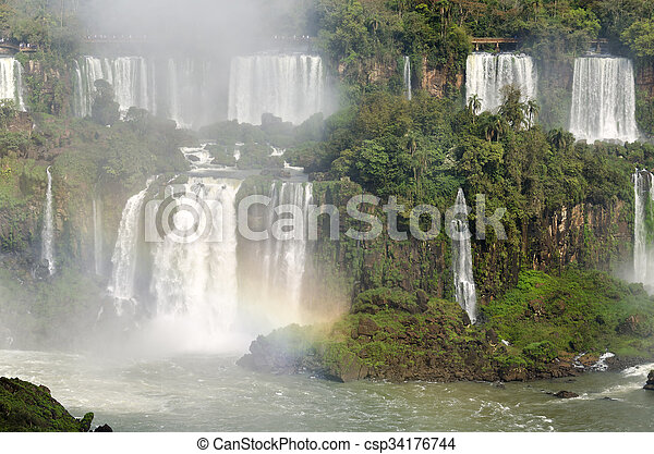 waterfall Iguacu - csp34176744