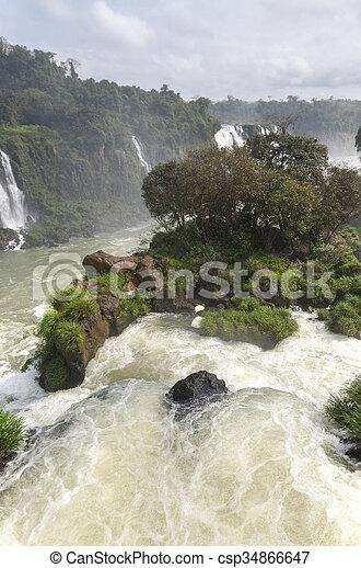 waterfall Iguacu - csp34866647