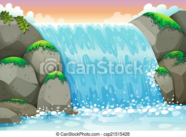 waterfall - csp21515428