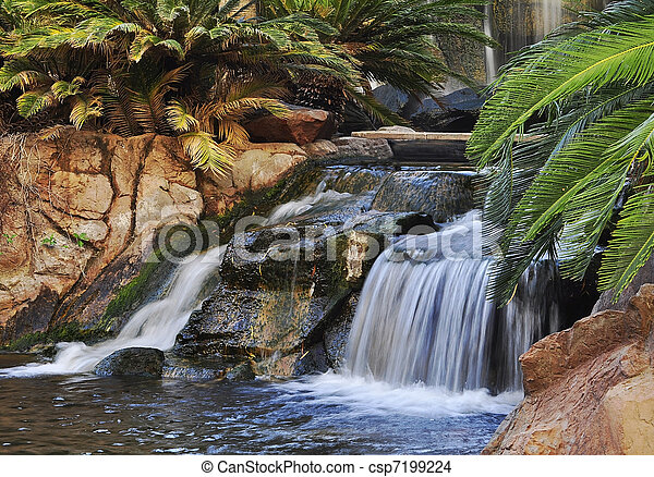 waterfall in a park - csp7199224