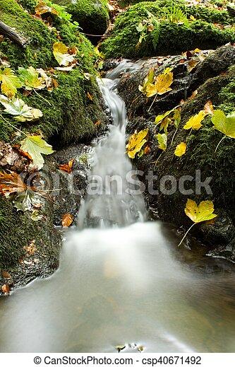 waterfall in autumn - csp40671492
