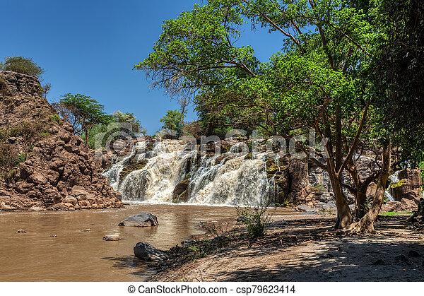 waterfall in Awash National Park, Ethiopia - csp79623414