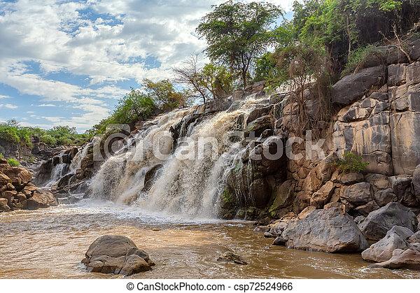 waterfall in Awash National Park, Ethiopia - csp72524966