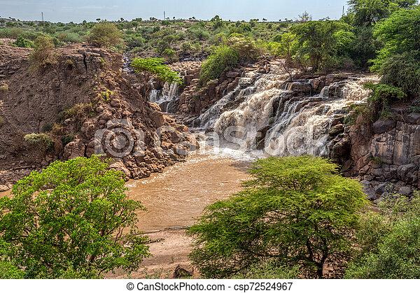 waterfall in Awash National Park, Ethiopia - csp72524967