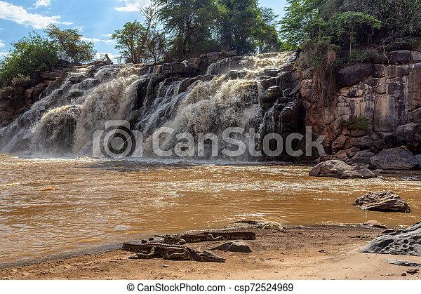 waterfall in Awash National Park, Ethiopia - csp72524969