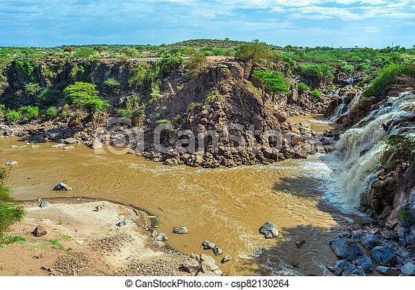 waterfall in Awash National Park - csp82130264