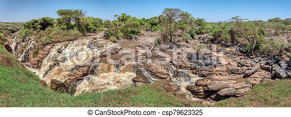 waterfall in Awash National Park, Ethiopia - csp79623325