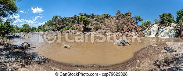 waterfall in Awash National Park, Ethiopia - csp79623328