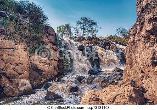 waterfall in Awash National Park, Ethiopia - csp73131103