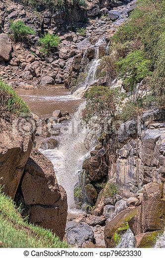 waterfall in Awash National Park, Ethiopia - csp79623330