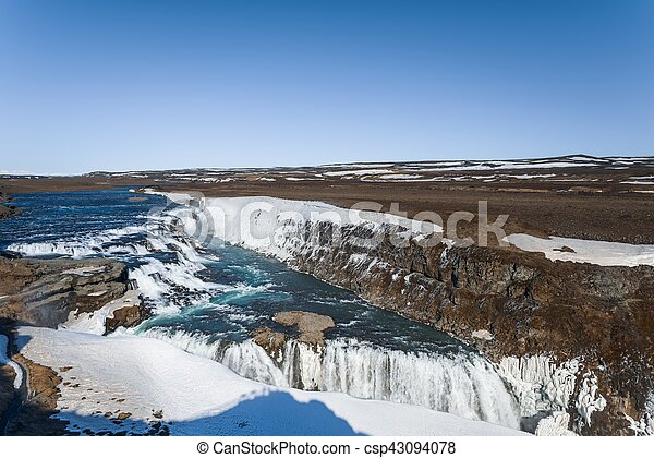 Waterfall in Iceland - csp43094078