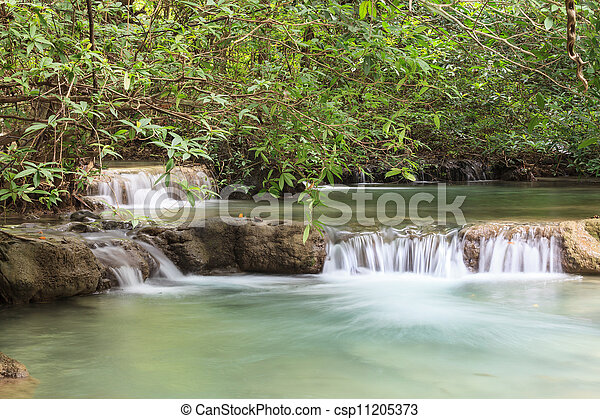 Waterfall in National Park - csp11205373