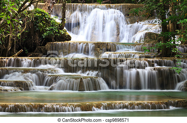 Waterfall in National Park - csp9898571