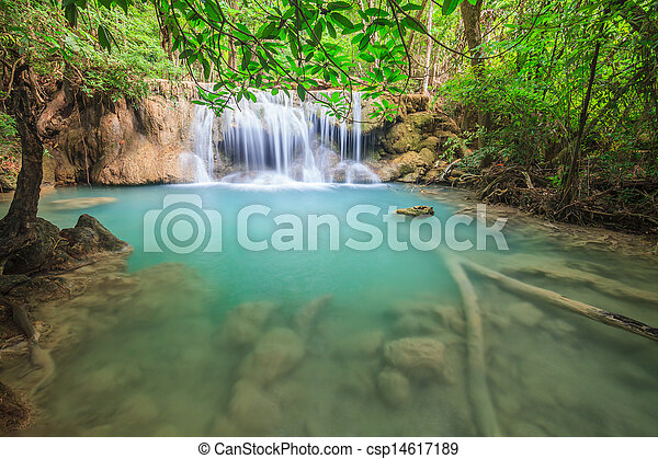 Waterfall in National Park - csp14617189