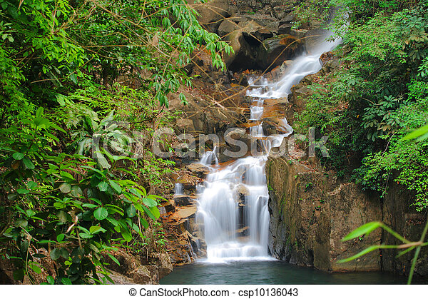 Waterfall in national park - csp10136043