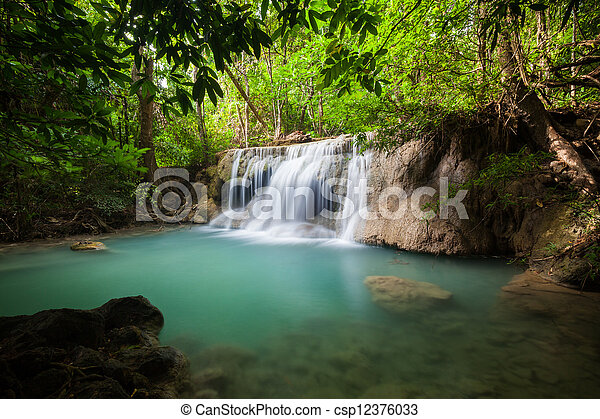 Waterfall in National Park - csp12376033