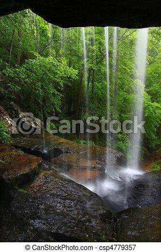 Waterfall in northern Alabama - csp4779357
