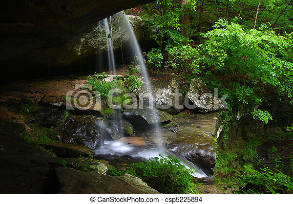 Waterfall in northern Alabama - csp5225894