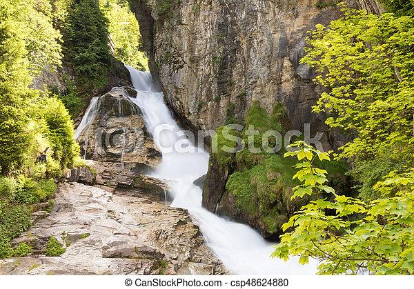 Waterfall in Ski resort Bad Gastein, Austria, Land Salzburg - csp48624880