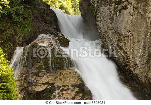 Waterfall in Ski resort Bad Gastein, Austria, Land Salzburg - csp48593031