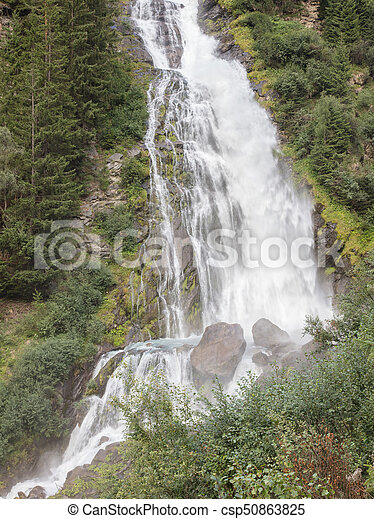 Waterfall in the Austrian Alps - csp50863825