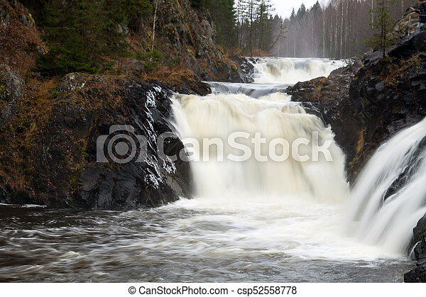 Waterfall in the forest - csp52558778