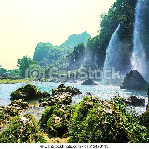 Waterfall in Vietnam - csp12470113