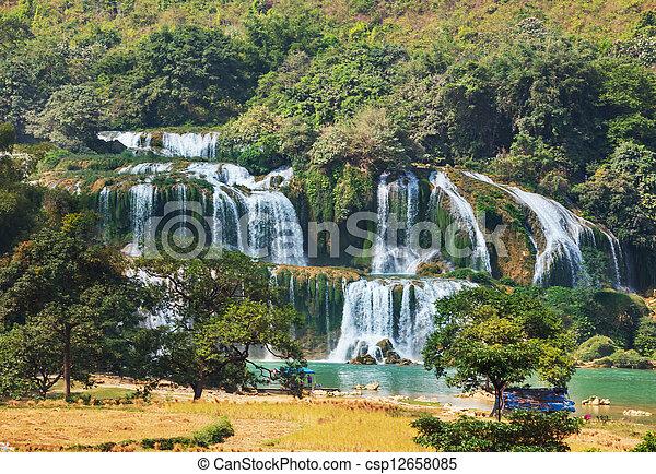 Waterfall in Vietnam - csp12658085
