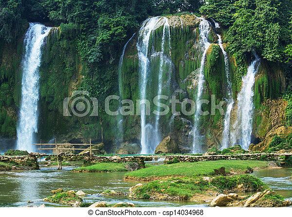 Waterfall in Vietnam - csp14034968