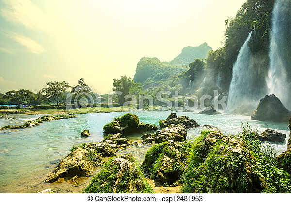 Waterfall in Vietnam - csp12481953