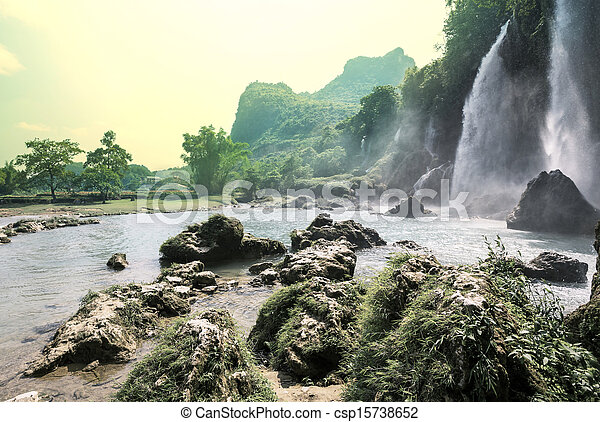 Waterfall in Vietnam - csp15738652