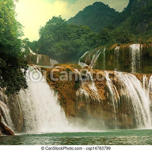 Waterfall in Vietnam - csp14763799