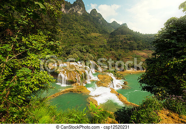 Waterfall in Vietnam - csp12520231