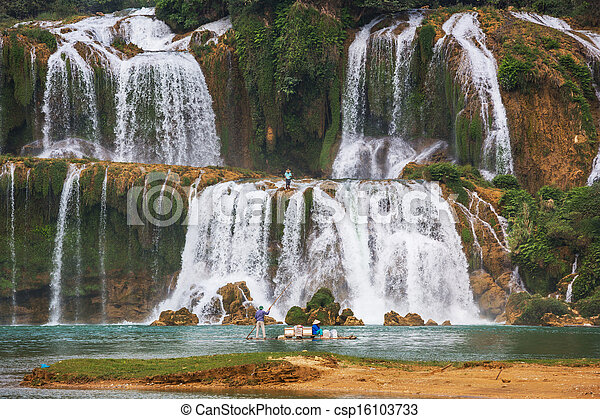 Waterfall in Vietnam - csp16103733
