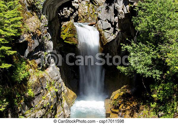 Waterfall in Washington State - csp17011598