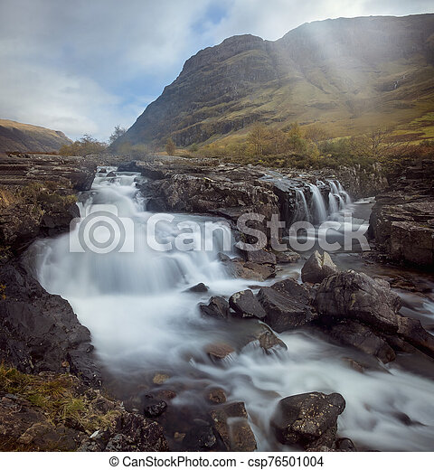 Waterfall on the River Coe - csp76501004