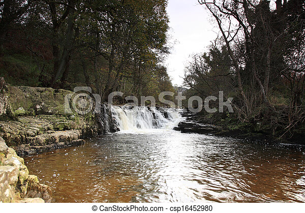 Waterfall on the River Gelt - csp16452980