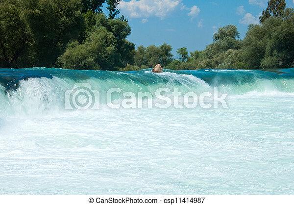Waterfall on the river Manavgat, Turkey - csp11414987
