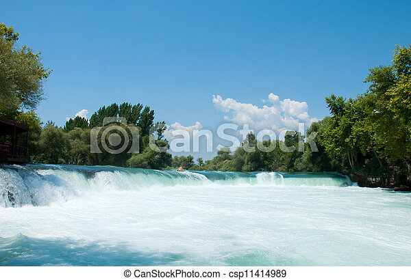 Waterfall on the river Manavgat, Turkey - csp11414989