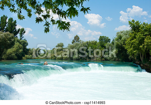 Waterfall on the river Manavgat, Turkey - csp11414993