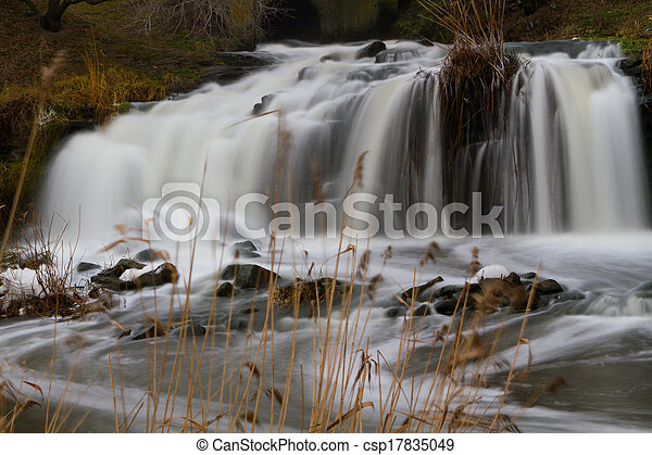 waterfall on the river - csp17835049