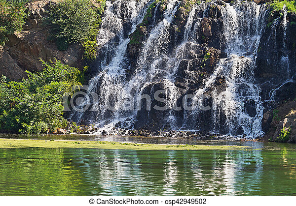 waterfall on the river - csp42949502