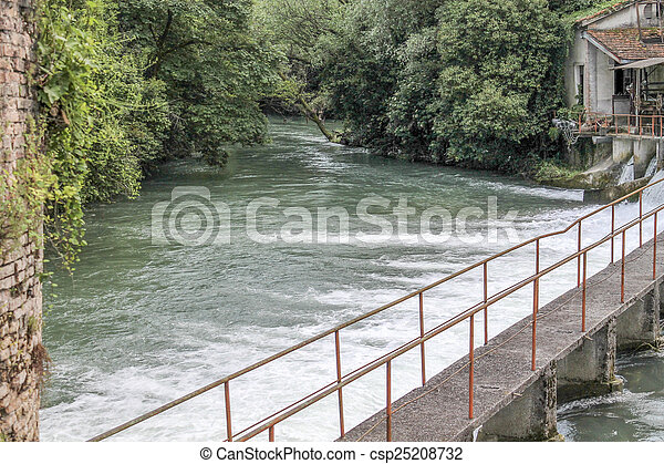 waterfall on the River - csp25208732