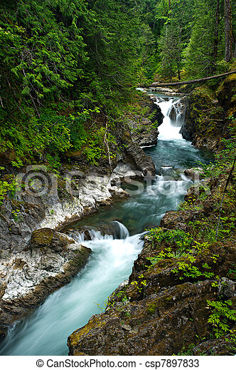 Waterfall on Vancouver Island - csp7897833