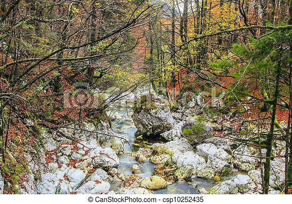Waterfall Savica, Slovenia - csp10252435