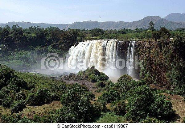 Waterfalls in Ethiopia - csp8119867