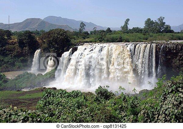 Waterfalls in Ethiopia - csp8131425