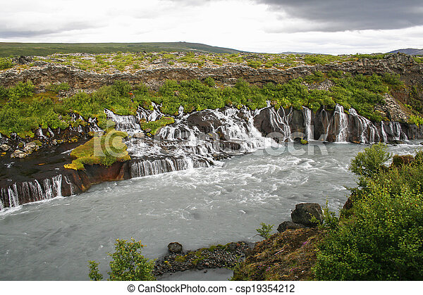 Waterfalls in Iceland - csp19354212
