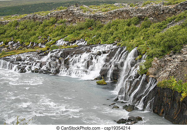 Waterfalls in Iceland - csp19354214