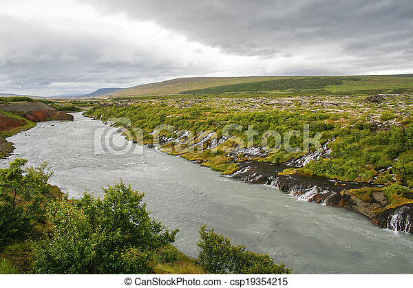 Waterfalls in Iceland - csp19354215